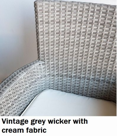 Vintage Grey with cream fabric
