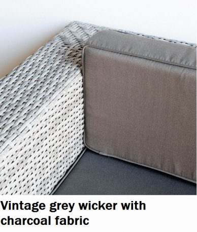 Vintage grey with charcoal fabric Lounge cushions