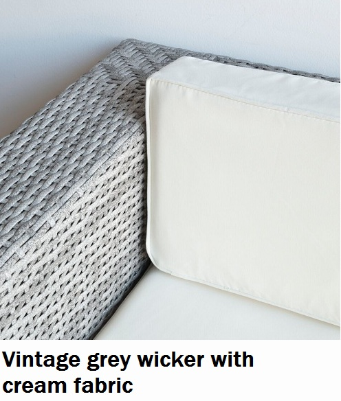 Vintage grey with cream fabric Lounge cushions