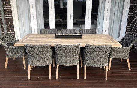 Norwich 8 Seater Outdoor Wicker Dining