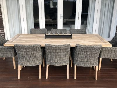Norwich 8 Seater Outdoor Wicker Dining set