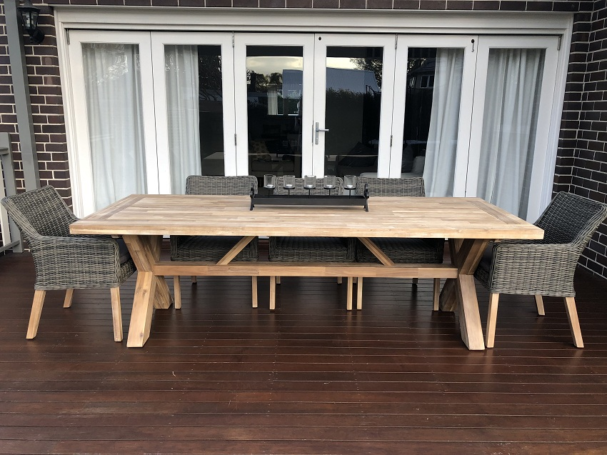 Norwich 8 Seat Kobo Grey Outdoor Dining Setting