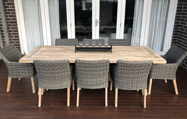 Norwich 8 Seater Outdoor Wicker Dining