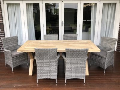 Norfolk 6 Seat Kobo Grey Outdoor Dining Setting