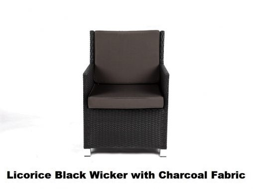 licorice black with charcoal fabric cover