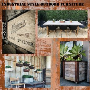 Industrial Style Outdoor Furniture