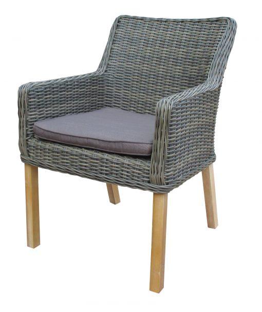 Ponte dining chair wooden legs-Kobo grey Natural grey