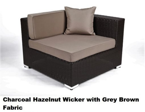 charcoal hazelnut wicker with grey brown fabric cover