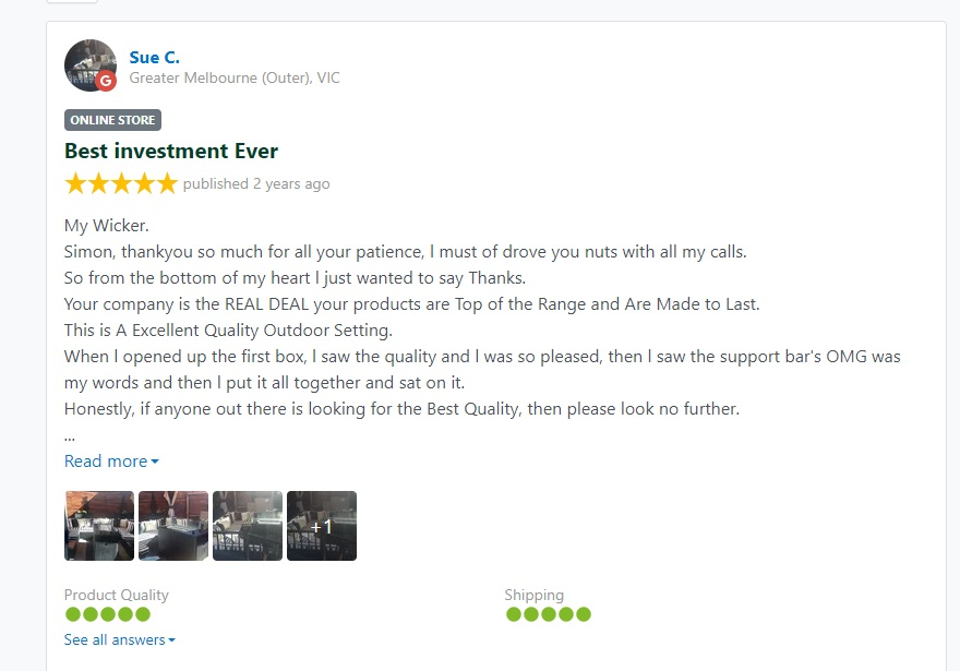 My Wicker Customer Reviews