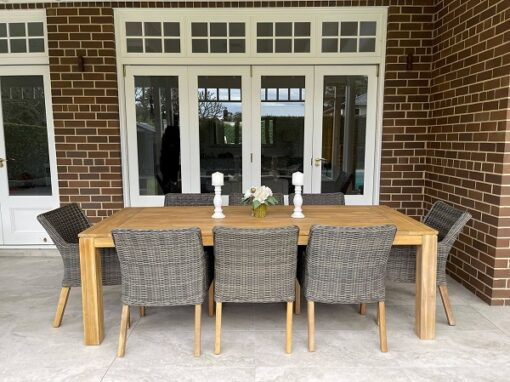 cancun 9 piece outdoor dining setting